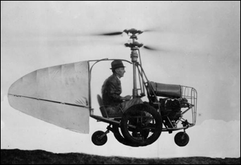 Jess Dixon in his flying automobile (ca. 1945)