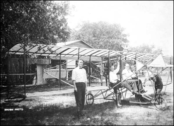 Men and early biplane: Kissimmee, Florida (ca. 1910)