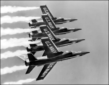 Blue Angels in flight (ca. 1962)