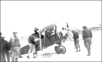 Clarence Chamberlin at Cowan's Beach Airport: Daytona Beach, Florida (1928)