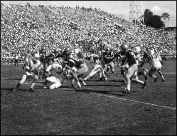 Football game in Florida Field, University of Florida: Gainesville, Florida (1961)