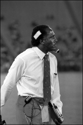 Coach Rudy Hubbard on the sidelines: Tallahassee, Florida (1984)