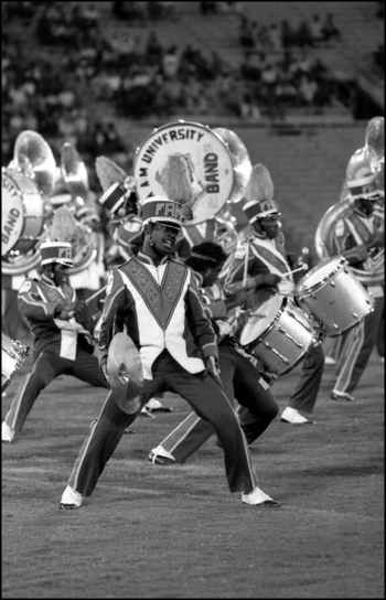 "FAMU ""Marching 100"" perform for the crowd: Tallahassee, Florida (1984)"