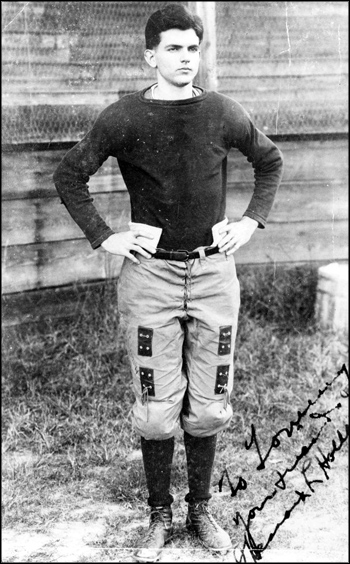 Spessard Holland wearing a football uniform, later to become Governor of Florida, (1912)