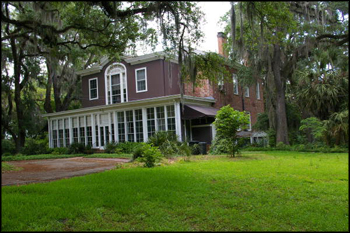 Rear view of The Grove showing the &quot;Florida room&quot; built by LeRoy and Mary Call Collins ca. 1952 (2011)