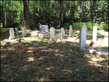 Headstones in the family cemetery at The Grove (2011)