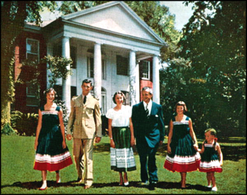 Governor LeRoy Collins and his family in front of The Grove (ca. 1956)