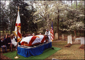 Private burial service at The Grove cemetary for LeRoy Collins (1991)