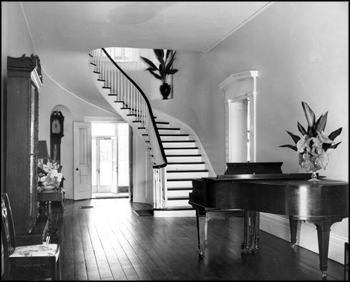 Main hallway and stairs at The Grove (1956)