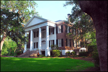 "View of the frontal facade of the Call-Collins House, ""The Grove,"" in Tallahassee, Florida (2011)"