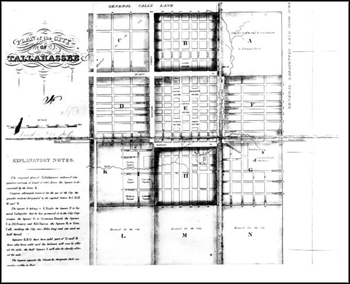 Plan of the city of Tallahassee (1829) 