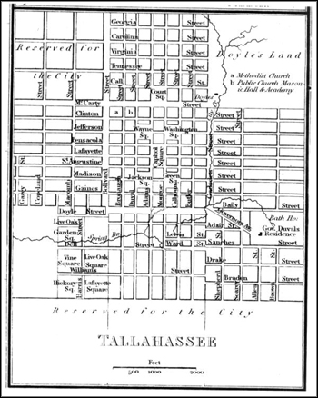 Plan of the city of Tallahassee (1824)