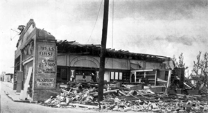 Building destroyed by the hurricane of 1926
