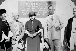 Dedication of the memorial on Islamorada for the 1935 hurricane victims