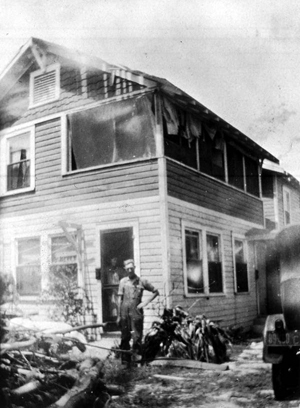 Home damaged by the 1926 hurricane: Miami, Florida