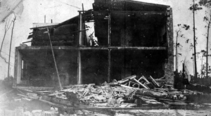 Home destroyed by the 1926 hurricane: Miami, Florida