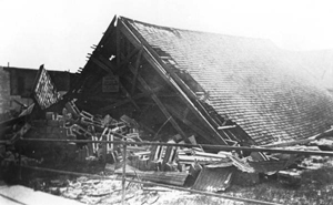South Methodist Church demolished by hurricane of 1926