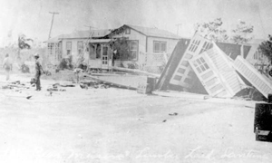 Homes on Osborne Road, after the hurricane of 1928: Lantana, Florida
