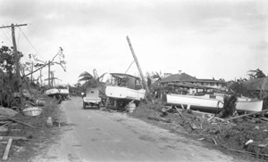 Damage from the 1926 hurricane: Miami, Florida