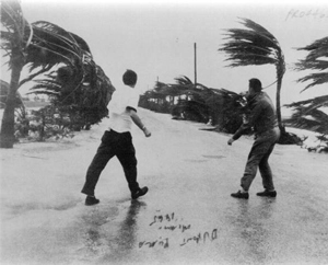 View from the Dupont Plaza during Hurricane Betsy: Miami, Florida (1965)