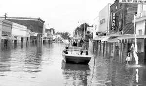 Governor Bryant surveying flood damage after Hurricane Dora: Live Oak, Florida (1964)