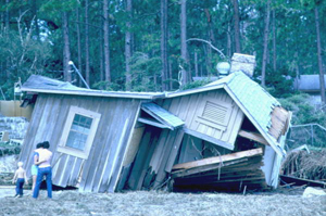 Home destroyed by Hurricane Elena (1985)