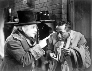 Movie scene with Lincoln T.M.A. Perry (c. 1930)