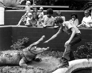Alligator show at St. Augustine Alligator Farm: St. Augustine (1980)