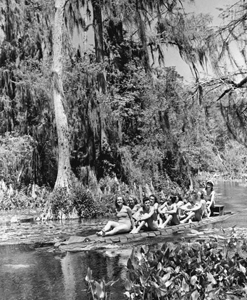 """Alligator"" boat: Wakulla Springs, Florida (1941)"