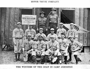 Camp Joseph E. Johnston baseball team: Jacksonville, Florida (1918)
