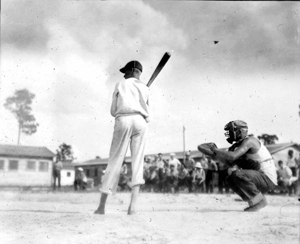 Baseball game against a Jasonville team at the WWI veterans labor camp: Welaka, Florida (1935)