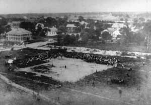 Birds eye view of baseball field. St. Petersburg, Florida (19--)