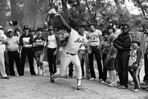 New York Mets pitcher Ed Lynch at Burger King baseball clinic held at Miami-Dade Community College: Miami, Florida (1982)