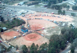 Aerial view of Pace Recreation Complex: Milton, Florida (1981)
