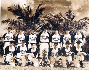 Group portrait of the White Belt Dairy baseball team: Miami, Florida (1940 or 1941)