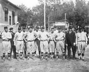 Washington Senators baseball team at training camp: Deland, Florida (1923)