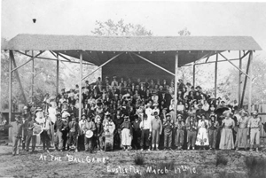 Baseball field grandstands: Eustis, Florida (1910)