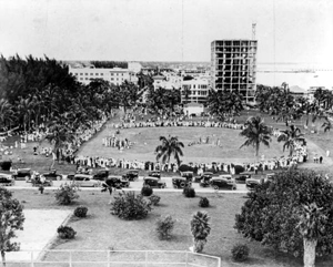 Marines having a baseball game in Royal Palm Park: Miami,Florida (1918)