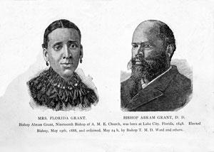 Former slave Bishop Abram Grant, D.D. and wife Florida Grant (ca.1891)