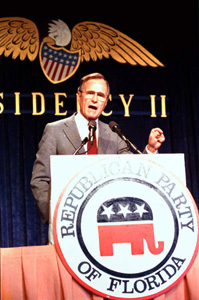 Vice President George Bush speaks at Florida's Republican party convention: Orlando, Florida (1987)
