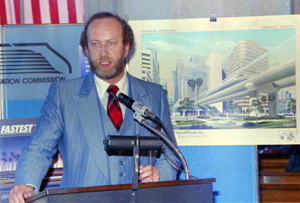 David Ramsay making presentation for Florida High Speed Rail Commission (1988)