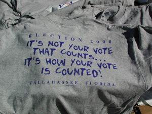 T-shirt from the 2000 presidential election vote dispute