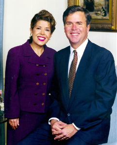 Governor Jeb Bush and his wife, Columba: Tallahassee, Florida (1999)