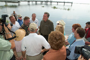 Governor Bush speaking about the Lake Okeechobee & Estuary Recovery Plan (2005)