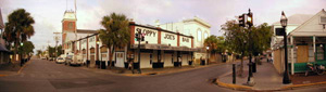 Sloppy Joe's Bar at 201 Duval Street during evacuation for Hurricane Ivan: Key West, Florida (2004)