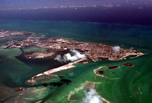 Aerial image of Key West, Florida (1968)