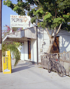 Pepe's Cafe at 806 Caroline Street: Key West, Florida (198-)