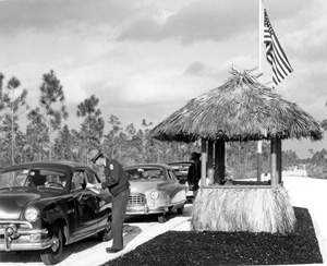 Toll booth at the Everglades National Park (1950s)