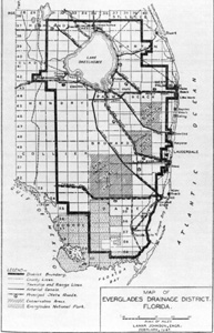 Map of Everglades drainage district (1947)