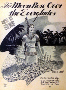"Sheet music for ""The Moon Rose Over the Everglades"""